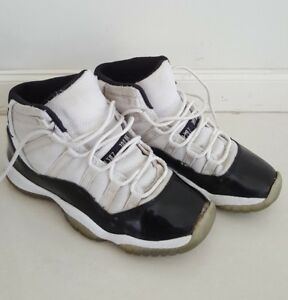 cheap for discount e0f42 c9f25 Image is loading NIKE-AIR-JORDAN-XI-CONCORD-Basketball-Kid-Shoes-