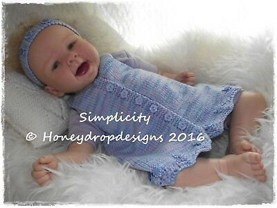 Honeydropdesigns LOGAN Reborn//Baby Romper 0-6 Months PAPER KNITTING PATTERN