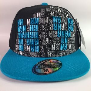 c2cb1bbbd07 Image is loading NEW-BLACK-amp-TURQUOISE-BLING-HIP-HOP-NY-