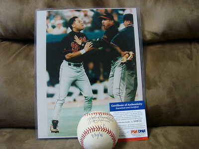 Balls Sports Mem, Cards & Fan Shop Roberto Alomar & Hirschbeck Autograph Baseball Psa/dna