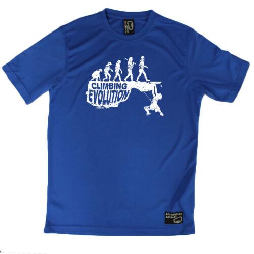 Escalade T-Shirt Drôle Hommes Sport T-shirt Performance-Escalade Evolution