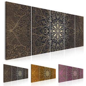 Wandbilder Xxl Wohnzimmer Modern Leinwand Bilder 5 Teilig Mandala