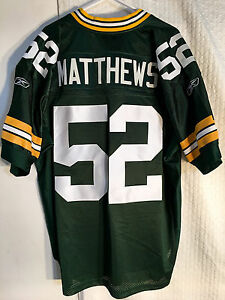 057e4755e Reebok Authentic NFL Jersey GREEN BAY Packers Clay Matthews Green sz ...