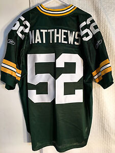 the latest 49f43 8f2f0 Details about Reebok Authentic NFL Jersey GREEN BAY Packers Clay Matthews  Green sz 50