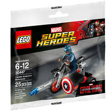 Lego marvel super heroes 30447 captain america's motorcycle in sealed polybag