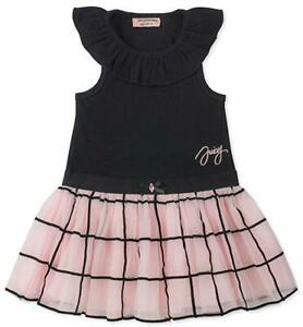 Juicy-Couture-Big-Girls-Black-amp-Pink-S-S-Dress-Size-7-8-10-12-75