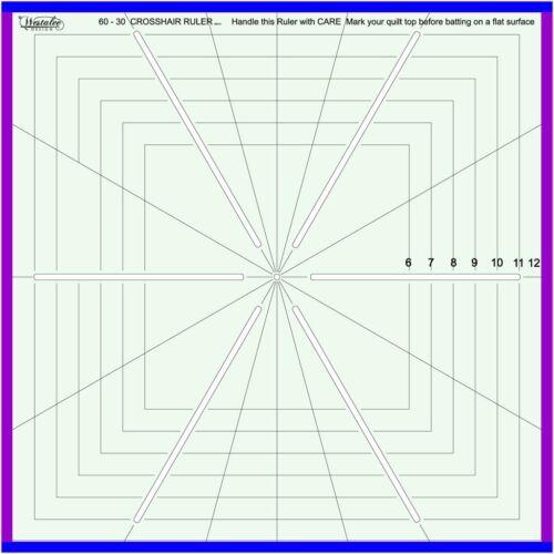 "12.5/""X12.5/"" WESTALEE DESIGN CROSSHAIR RULER QUILTING TEMPLATE 5 POINT"