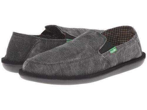 Men Sanuk Vice Slip On Loafer SMF10967 Black Vintage 100/% Original Brand New