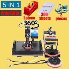 Combo Heat Press Printing Machine 2d Sublimation Printer Cloth T Shirt Mug Plate