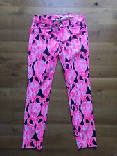 NWT Lilly Pulitzer Kelly Skinny Ankle Pants 12816 High Tide Na Via Amor Size 0