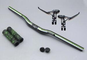 Carbon Mountain Road Bike MTB Bicycle riser bar Handlebar 31.8*580-760mm Green