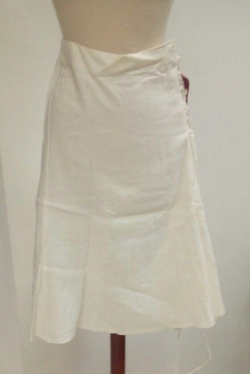 SKIRT woman Sizes big 50 linen white adlib ties NEW summer ref. 2.1.11