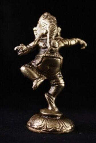 Ganesh Ganesha Figur  tanzend aus Messing ca 9-10 cm