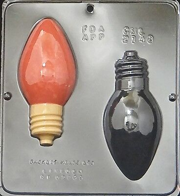 Christmas Bulb Large Chocolate Candy Mold Christmas  2148 NEW