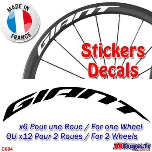 C004 Autocollants jantes vélo GIANT Sticker Roue Carbone Advanced SL PRO TCR