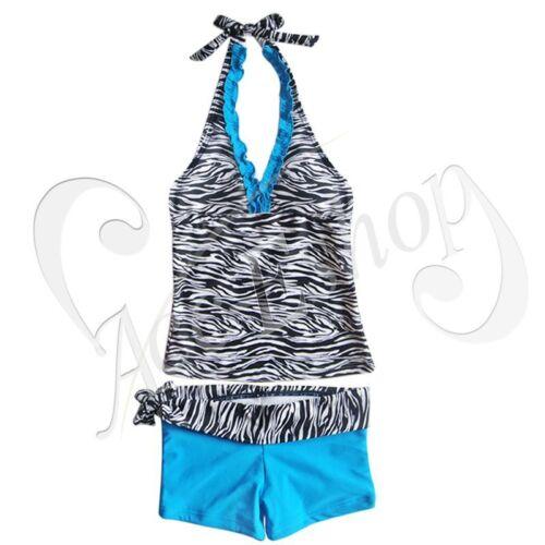 Kids Baby Girls 2pcs Tankini Bikini Set Swimwear Swimsuit Bathing Suit Beachwear