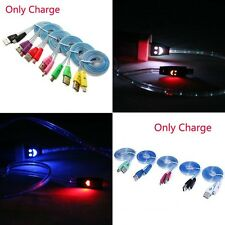 Light-up Visible Smile Face For Android Phones LED Charger Cable Micro USB