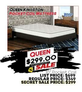 Canadas Least Expensive POCKET COIL Queen Size Mattress **BRAND NEW FACTORY DIRECT** Hamilton Ontario Preview