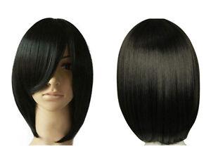 per cke kurz glatt haar wigs weiblich schwarz dunkelbraun hellbraun ebay. Black Bedroom Furniture Sets. Home Design Ideas
