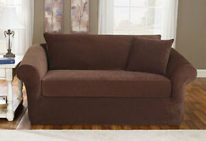 Sure Fit Stretch Pique Separate Seat Sofa Slipcover With Back