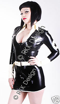 100% Latex Rubber Air Hostess Uniform *HOT* XL *Premium Quality*