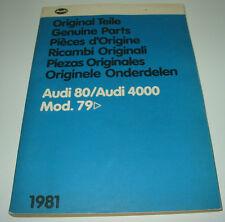 Ersatzteilkatalog Bildkatalog Audi 80 / 4000 Typ 81 B2 ab Baujahr 1979!