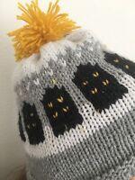 Hand Knits 2 Love Beanie Hat Cap City Snow Designer Fashion Female