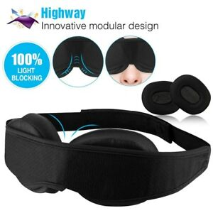 aed11ab10 Travel Sleep Eye Mask 3D Memory Foam Padded Cover Sleeping Blindfold ...