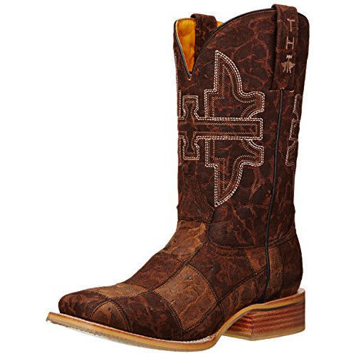 New in Box Tin Haul Uomo Million Dollar Check Western Boots Brown/Tan 11.5 EE