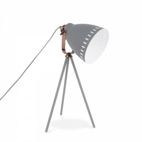 CONTEMPORARY STYLE GREY 3 LEGGED TRIPOD LEITMOTIV MINGLE METAL DESK LAMP LIGHT