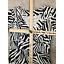 miniature 8 - Diane von Furstenberg Silk Dress Sz 2 Zebra Print 3/4 Sleeve V Neck Sheath