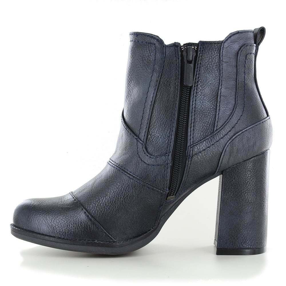Mustang 1251-501-820 Damenschuhe Ankle Stiefel Navy