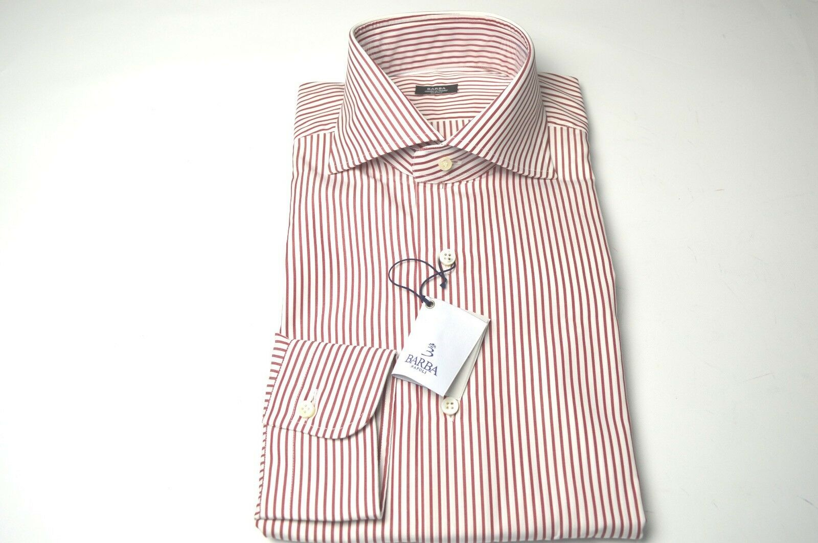 NEW BARBA  Dress SHIRT  100% Cotton Size 15.75  Us 40 Eu  (BA9)