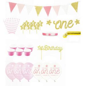 1 Geburtstag Set Madchen Kindergeburtstag Deko Geburtstagsparty