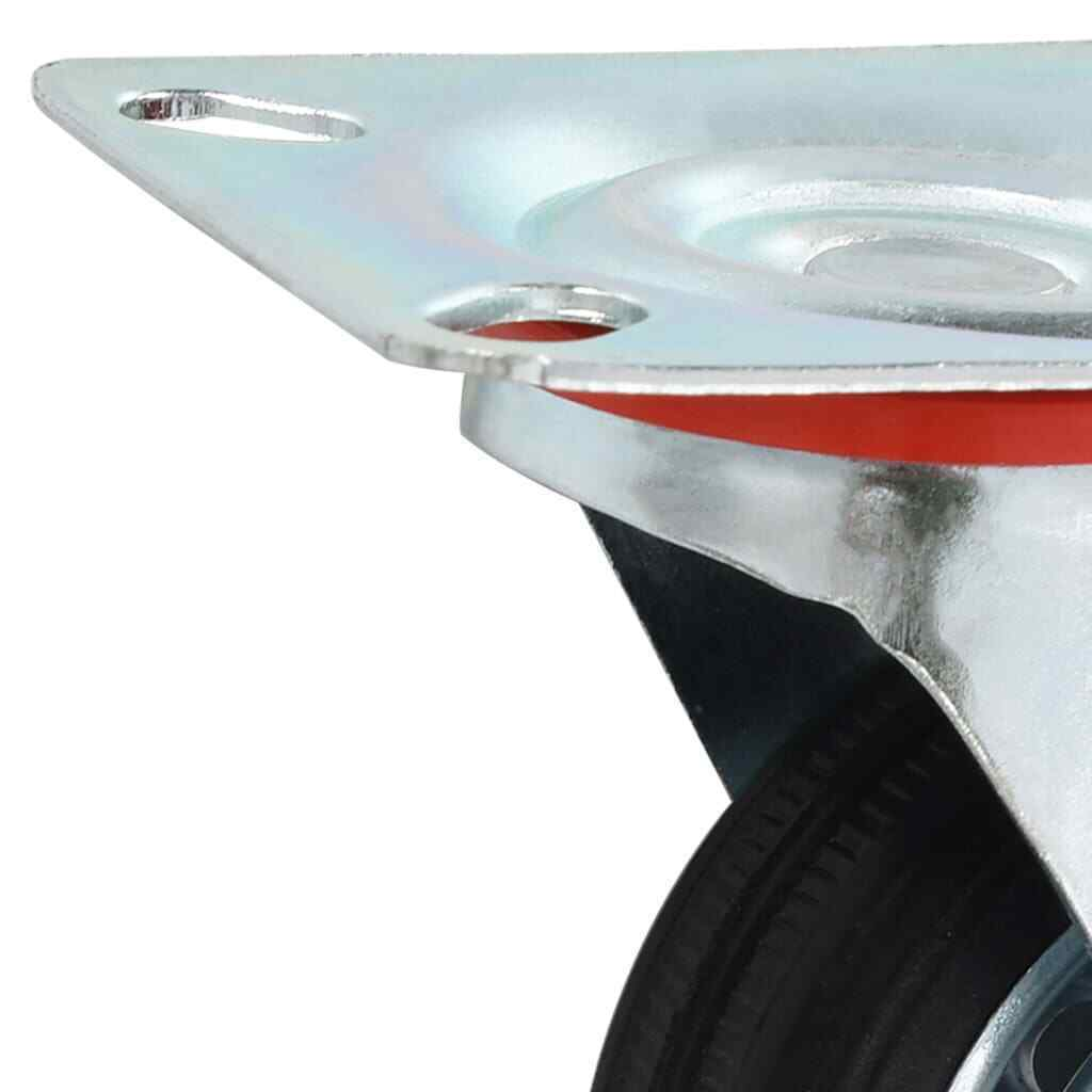 s l1600 - vidaXL 4x Ruedas de Transporte Giratorias 75mm Manipulación Materiales Almacén