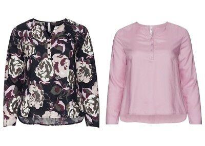 120 NEU Sheego Damen Shirt Top Tanktop Gr 46 rosa mit Spitze