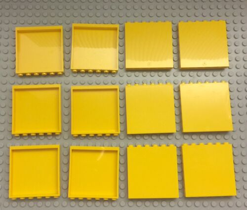 Classic Regular Yellow Color Bulk Lot Lego X12 New Yellow Panel 1x6x5 Parts