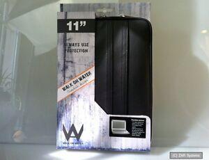 Walk-On-Water-11308-Boarding-Sleeve-Tasche-Schwarz-fuer-Apple-Mac-Air-11-zoll-NEU