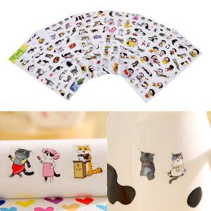 6-Pcs-Pack-Korea-Transparent-Pvc-Stickers-Cute-Cat-Diary-Photo-Album-Stickers-ni