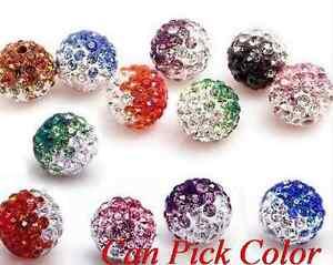 100pcs-lot-10mm-Disco-mixed-Gradient-change-Colorful-Crystal-Shamballa-Beads