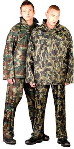 M-XXXL Regenanzug Regenhose Regenjacke Camouflage Regenmantel Regenkleidung gr