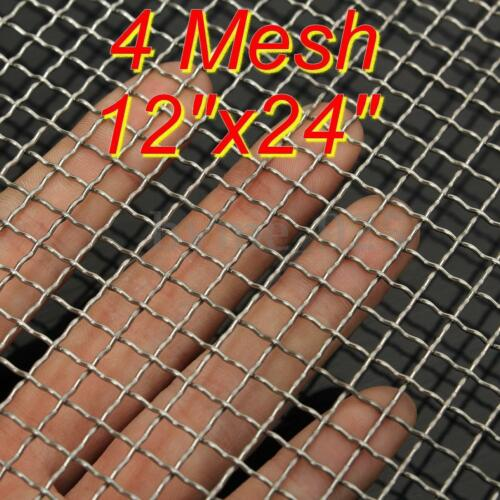 1 of 1 - 4 Mesh  #4 .047 304 Stainless Steel Woven Wire Filtration Filter Sheet 30 x 60cm