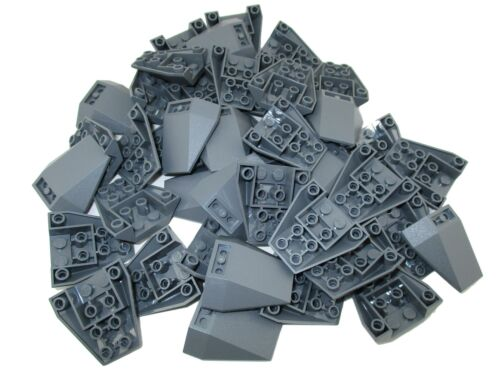 LEGO Dark Bluish Gray Wedge 4x4 Triple Inverted Stud Connections Lot of 25 Parts