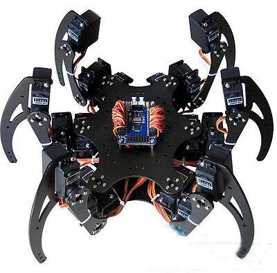1Set Black Six Legs Alloy 3DOF Hexapod Spider Robot Frame Kit DIY for Arduino