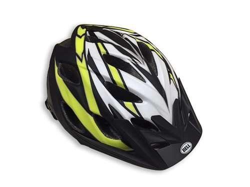 Black//Lime//White Bell Adult Knack Bike Helmet