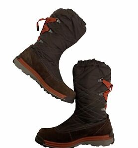 Merrell Polartec Womens Size 7 Quilted Winter Snow Boot Claudia Dark Brown Warm