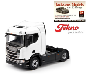 Tekno 70718 Scania R Series 4x2 Sleeper Cab Plain White 1 50 Scale