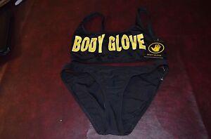 NWT $140 Body Glove Black Logo 1989 The Look Bikini Swimsuit 2pc Set Women/'s