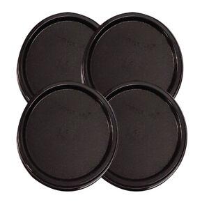 Tupperware-Modular-Mates-Black-Round-Replacement-Lids-Free-Shipping
