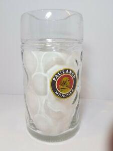 Paulaner-Munchen-1-Liter-Dimpled-German-Austria-Heavy-Beer-Stein-Glass-Mug
